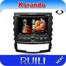 ssangyong New Actyon car multimedia android system dvd with gps/bluetooth/ipod/camera/tv