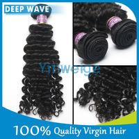 Luvin Hair Deep wave unprocessed 5a grade cheap 100% brazilian virgin hair bundles