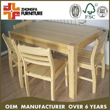 Solid wood dining set table chair
