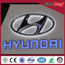 3D Laser facelit acrylic thermo swelling car exhibition sign