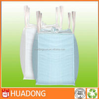 pp white bulk bag,1.5 ton packaging PP Jumbo Bag FIBC Ton bags with UV treated 4 lifting loops