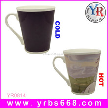 Porcelain Ceramic Type and Eco-Friendly,novel,interesting Feature color changing mug