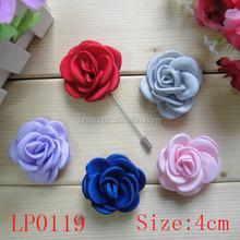 New arrival wholesale fashion custom fabric rose flower magnetic lapel pin,rose lapel pin,lapel pin