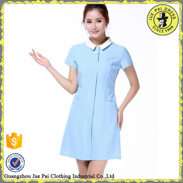 Blue beauty salon uniform for hairdresser beautician buy for Spa uniform indonesia
