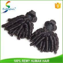 mongolian aunty funmi hair bouncy curls, nano ring human hair extensions for black women
