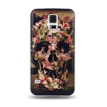 Flowers skeleton bard pc case for samsung galaxy s5