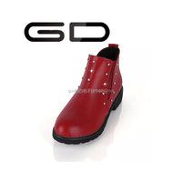 GD design your own shoes big red flat novely short boots