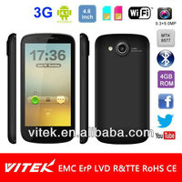 Android 4.1 MTK 6577 Dual core 4.6 inch Dual Sim 3G Smart phone
