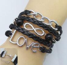 infinity bracelet lucky birds double owl vintage metal bracelet hand-woven wholesale olive branch infinity bracelets