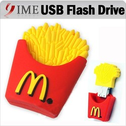 Real Capacity! Novelty mcdonald cartoon usb pendrive french fries Usb Flash Drive Thumb pen drive 4G 8GB 16G 32GB 64GB usb stick