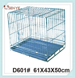 Wire folding pet crate dog cage iron dog crate cheap dog crate