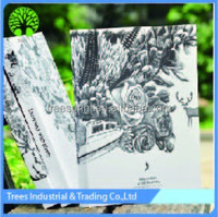 16K large size blank sketch book with white paper page