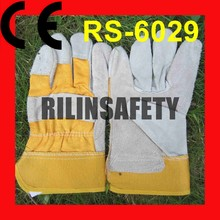 RILIN SAFETY leather working gloves pakistan,dubai importers of leather working gloves CE EN388 EN407