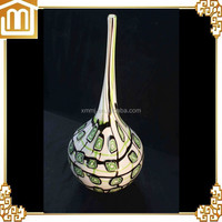 Blowing Murano art coloured table decoration tall long neck glass vase glass vases