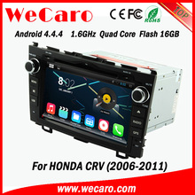 "Wecaro android 4.4.4 car dvd player China Factory 8"" car audio for honda crv mirror link 2006 - 2011"