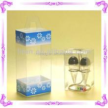 Custom Packaging Wine Glass Folding Plastic Clear PVC Box