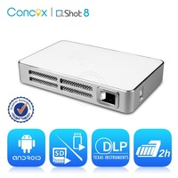 Concox pocket projector wifi proyector support HDMI mini beamer Amazing upgrade front/rear ceiling beamer