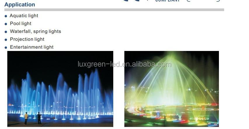 IP68 waterproof, 9x3w RGB led underwater light with 3 Years Warranty
