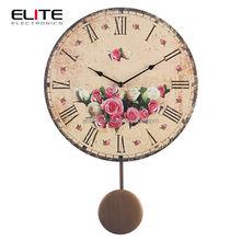 "New product 13"" MDF antique frameless pendulum clock"