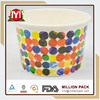 Coated Art Paper Ice Cream Cup disposable flower ice cream cup