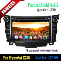 Quad core Android 4.4 For Hyundai I30 2011-2013 multimedia/car audio system /android radio with gps bluetooth DVD