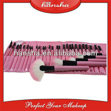 32 PCS Brushes Makeup set with Pink Cosmetic Brush Roll Make Your Own Brand