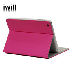 for ipad mini pu leather cover and plastic bottom.stand table design for cheer your life