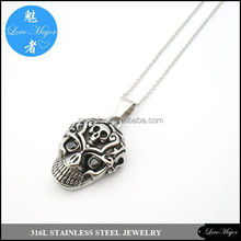2015 3D twin ghost stainless steel skull pendant of fashion jewelry MP-007
