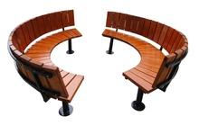 Garden furniture cheap cast iron wood waterproof round outdoor bench