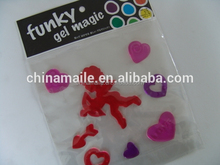 red colored Angel 3D jelly gel magic window sticker for home decor