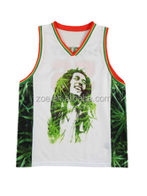 All over sublimation printing basketball jersey design