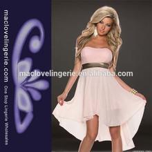 Ml18067 las mujeres- vestido- modelo desigual frente a corto y largo vestido