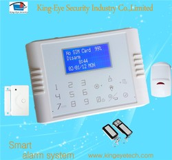 Touch pad security & protection lcd wireless gsm alarm system wireless for home security