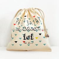 fashion promotional white drawstring cotton bags, 100% cotton drawstring shopping bags manufacturers