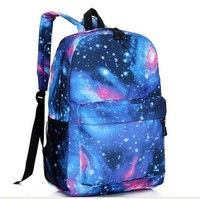 Free shipping Cathylin Galaxy Shinning Fashion Design Canvas Student Racksacks Wholesale Women Laptop Travel Backpacks