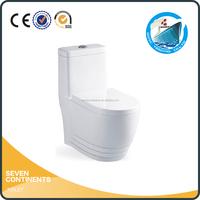 Chaozhou siphon Flush white S trap one piece ceramic toilet bowl price