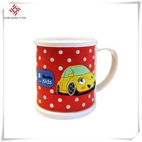 cute 3D custom logo , size silicone mugs/soft pvc mugs for promotional gifts or baby usage