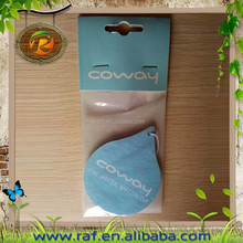 2015 blue sea water fashionable logo pringted Air freshener/aroma car freshener/paper air freshener with various scent