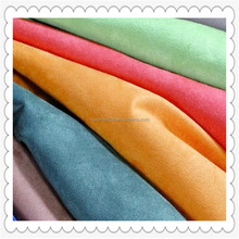 100% polyester woven 125gsm micro suede bonded with TC sofa fabric