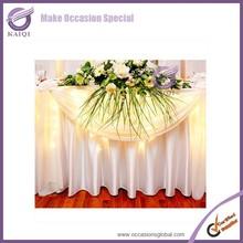 K5813 satn wedding universal ruffled gathered table skirts