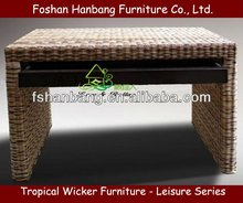 RWC0614-94 Round Rattan Writing Desk For Study Room
