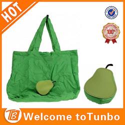 Pear shape cheap promotion bags folding reusable extra large shopping bag