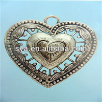 Casting alloy charms jewelry scarf fashion always in my heart pendant