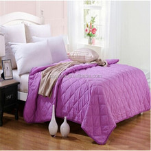 china supplier 100%polyester velboa quilt bedspread patchwork
