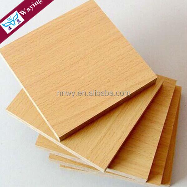 Wood grain melamine MDF