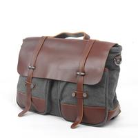 Customized canvas laptop messenger bag for women