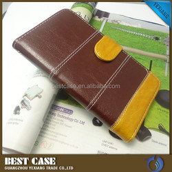 guangzhou factory price new product stand leather case for blu 5.0 flip with card solt