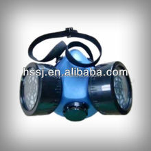 2015 best selling gas mask TPE rubber face gas mask of double-cartridge design ,similar as 3M gas mask