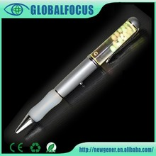 Fancy led light pen for promotional item customized logo floater led light pen