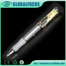 Fancy led light pen for promotional item customized logo floater led light pen